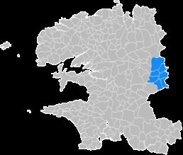 Communes d'intervention de Neature sur Carhaix-Plouguer et le Finistère