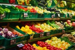 Neature - alimentation étales de fruits et légumes